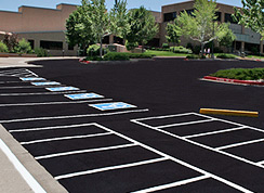 sealcoating your parking lot can add years and beauty to your lot.
