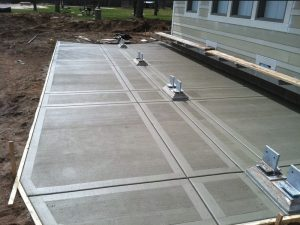 Concrete Contractors Tampa creating a concrete deck in Tampa.
