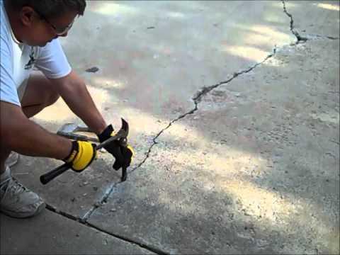 How To Fix A Concrete Driveway Crack Tampa Concrete
